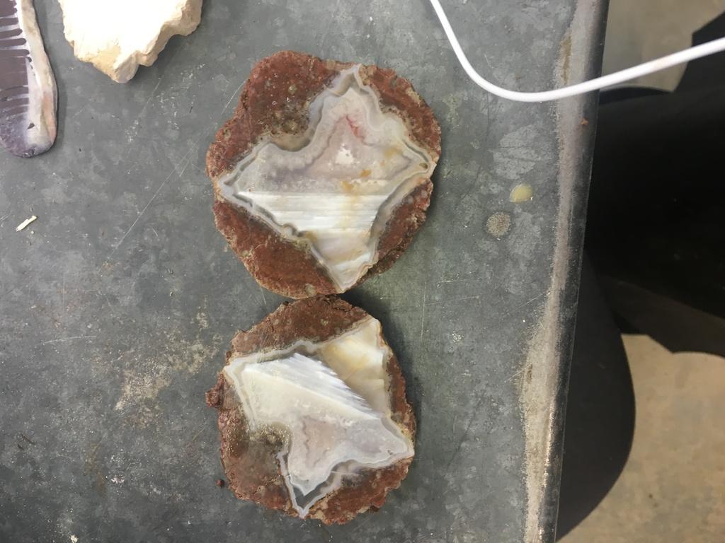 Thunder Egg Geodes from my Sculpture Teacher 3