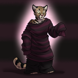 Tiny Cat, Big Sweater [Stream Commission - Implied TF]