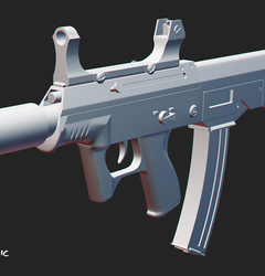 JS 9mm submachine gun study