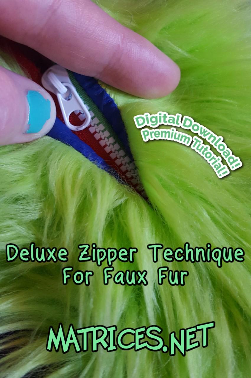Most recent image: Premium Tutorial: Deluxe Zipper Technique for Faux Fur