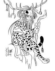 Digisketch: Jaguar Shaman