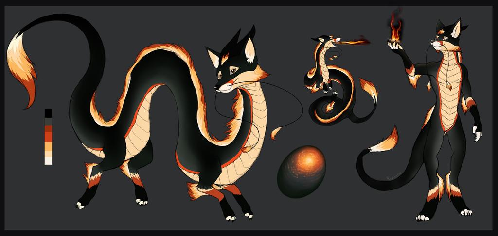 Fire Fox Dragon Design