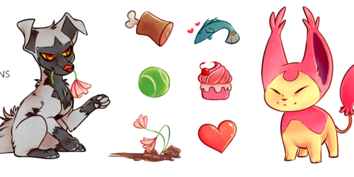Poochyena & Skitty Sticker sets