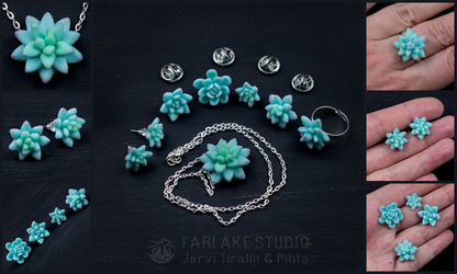Succulents jewelry set