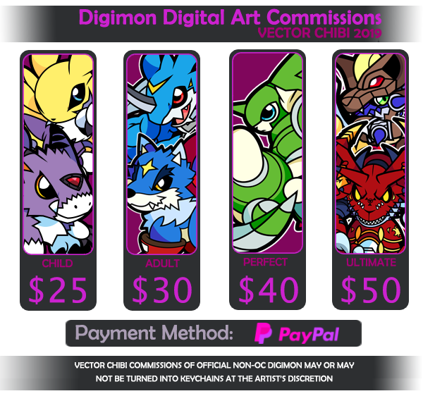 DIGIMON Vector Chibi commissions [CLOSED]