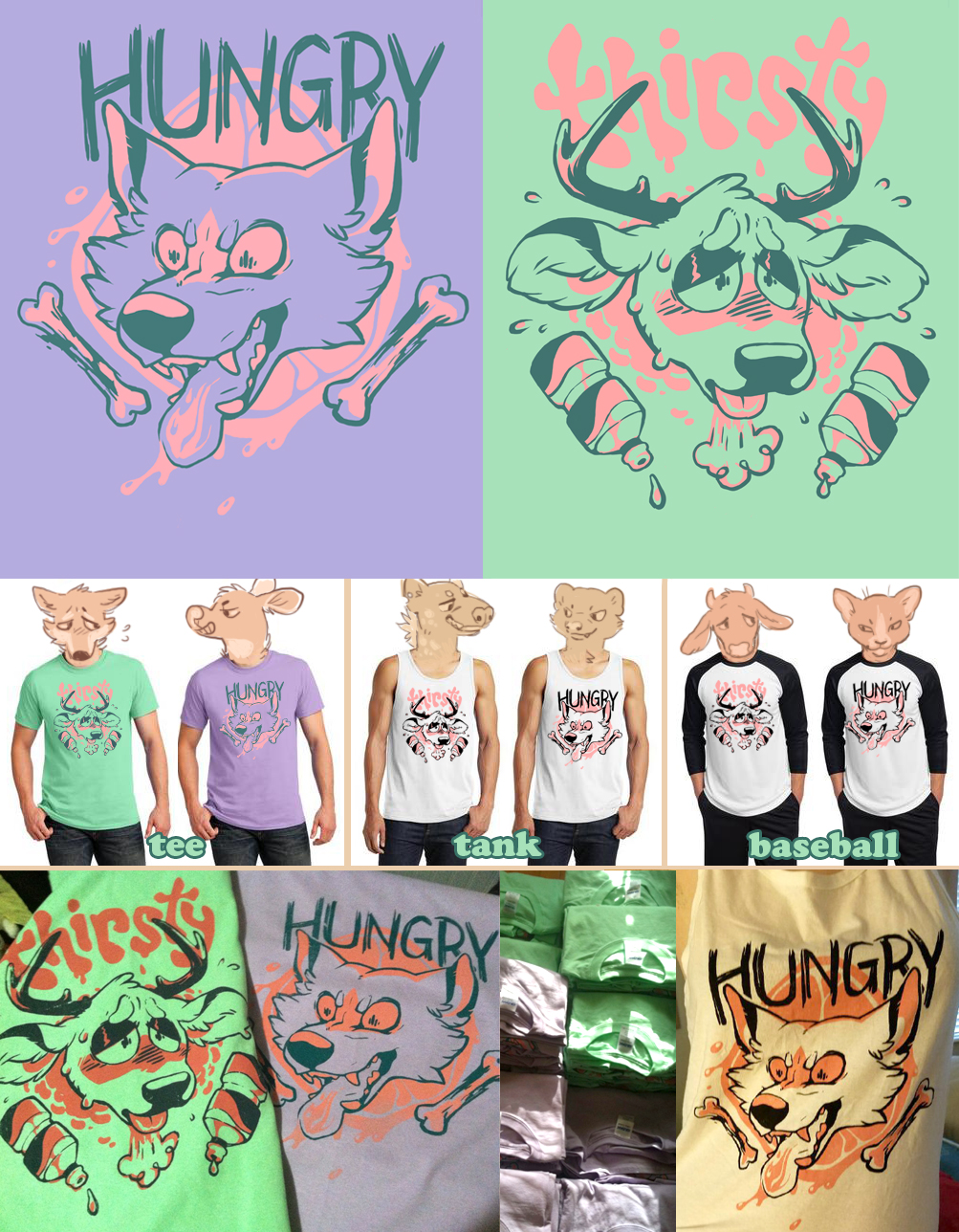 Hungry & Thirsty shirts for preorder! [CLOSED]