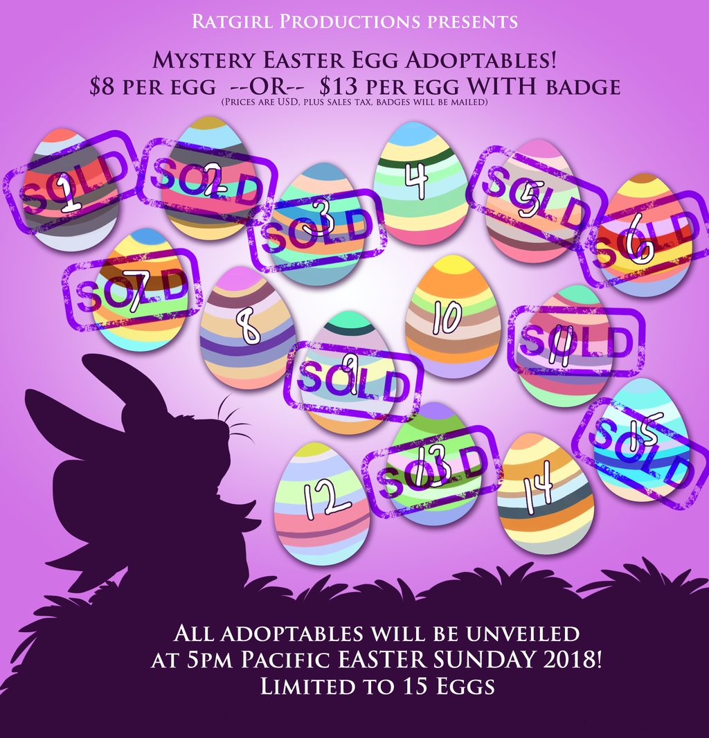 Featured image: 10 Eggs sold, only 5 left! Mystery Easter Adopts 2018