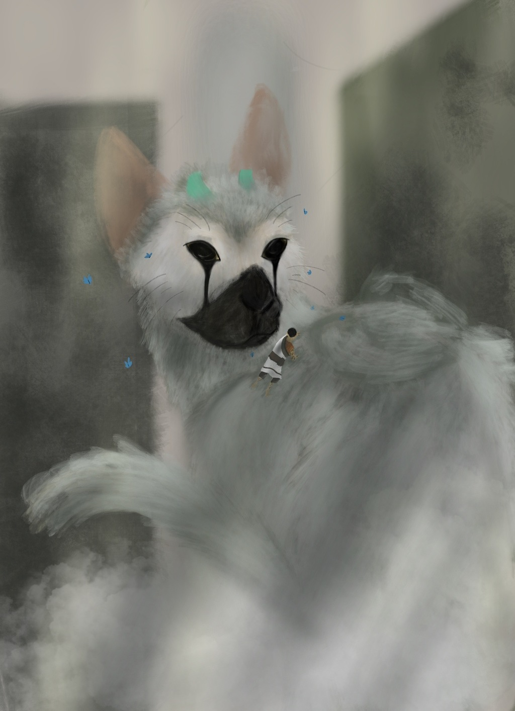 Digital Painting Example 2 - Trico