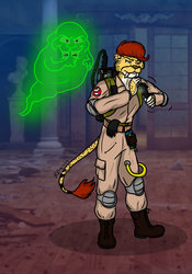 Mooncat Ghostbusters Commish!