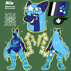 Nix +Flatcolored Character Ref Commission+