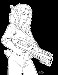Inked Cosplay - Amber as Ripley