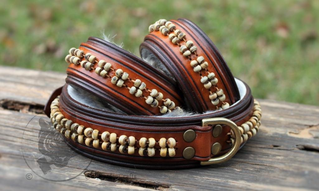 Most recent image: Horn-beaded Collar & Cuff Set