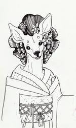 Textile Deer