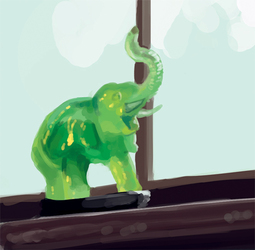 L'éléphant vert