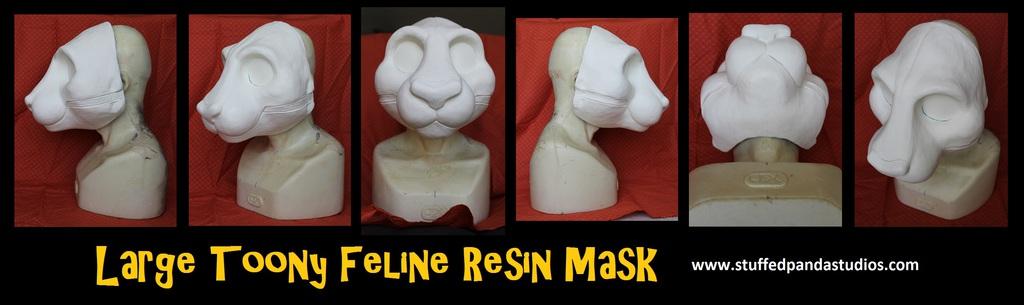 Large Toony Feline Resin Mask
