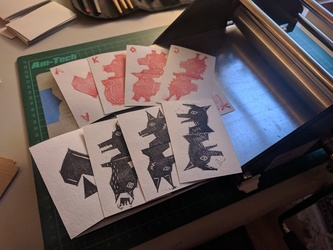 Low-fi furry playing cards