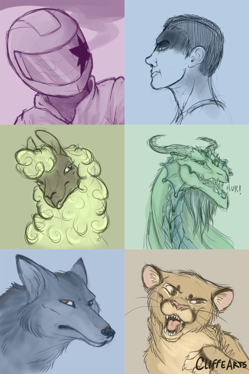 Headshot Sketches 001