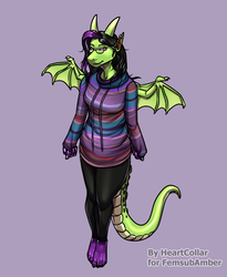 Dragoness in sweater [comm]