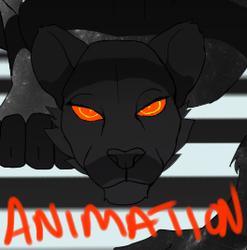 jagen zwischen dem licht animation