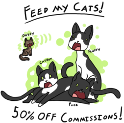 Feed My Cats Sale! 50% off all commissions!