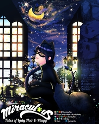 Miraculous Tales of Lady Noir & Plagg 🐈Speedpaint