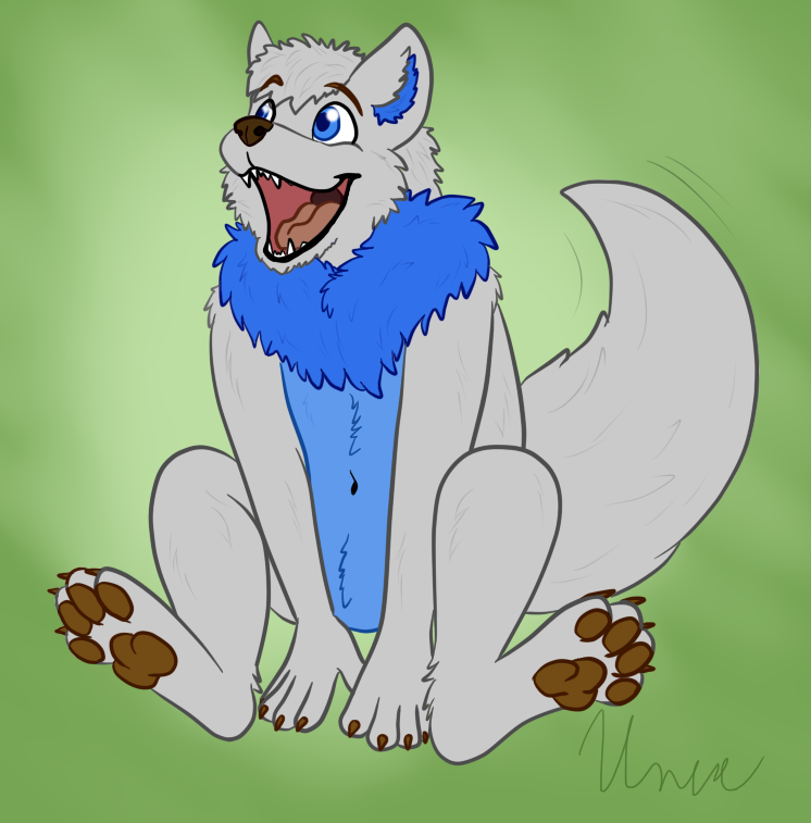 One happy little wolf