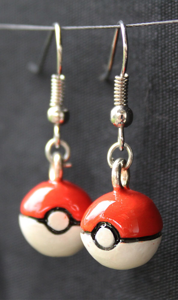 Most recent image: Pokeball Earrings