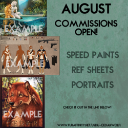 August Commissions Open!