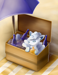 Ice Box Vulpix, Fireball Whiskey, Alola Beach