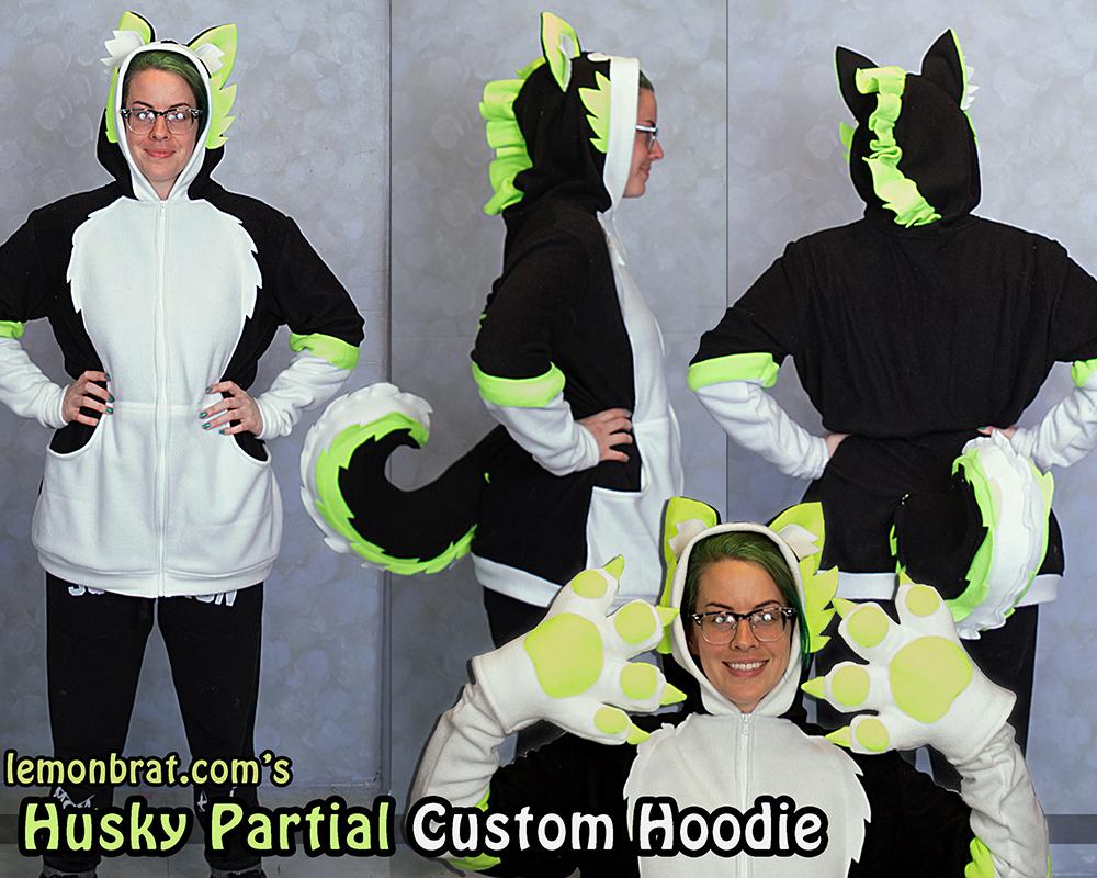 Husky Partial Custom Hoodie