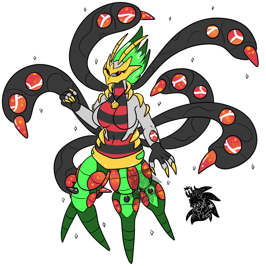 Female Giraswole +Flatcolored Commission+