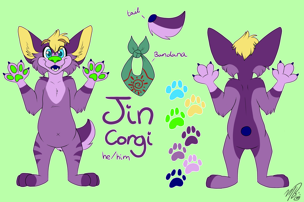 Most recent image: Jin's New Ref Sheet!!
