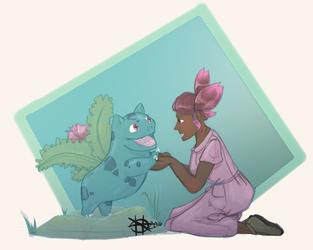 LwP Ivysaur with girl