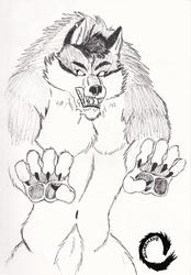 Inktober #11 Gift Art for Bashwolf