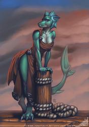 Aqua Dragoness Commission