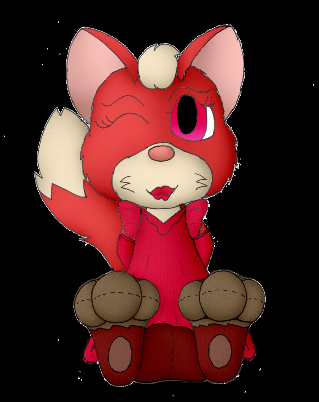Foxy Tulip Shows Off Her Fancy Garments