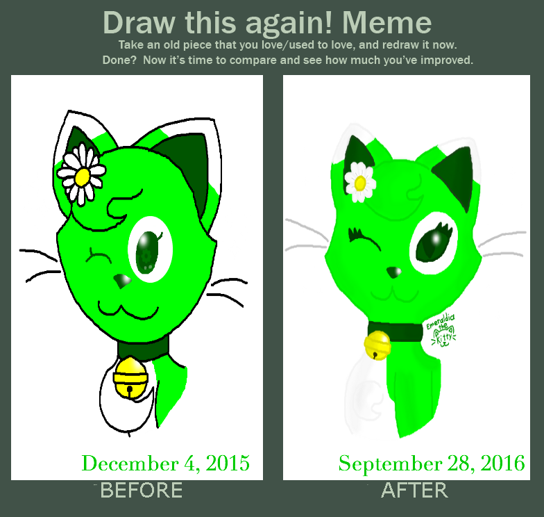 Draw This Again Meme: Emeraldia Headshot