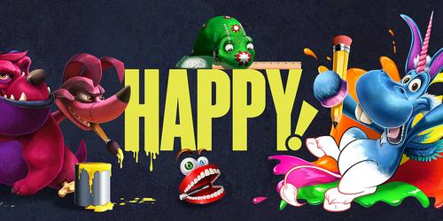 Syfy Happy! Commission