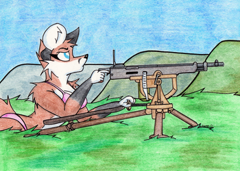 Armed Anthros: Colt M1895 Potato Digger
