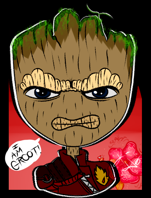 Angry Baby Groot