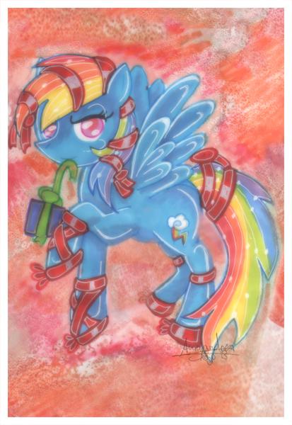 Christmas Themed Rainbow Dash