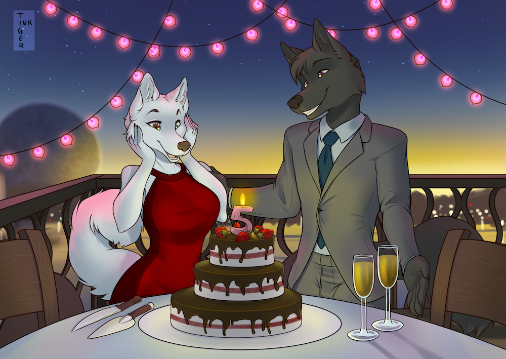 Commission: Anzel Anniversary 2018!