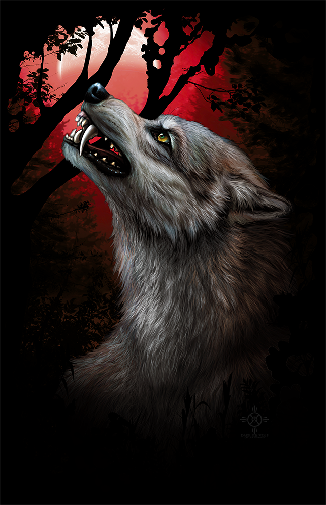 BloodMoon - Werewolf shirt design