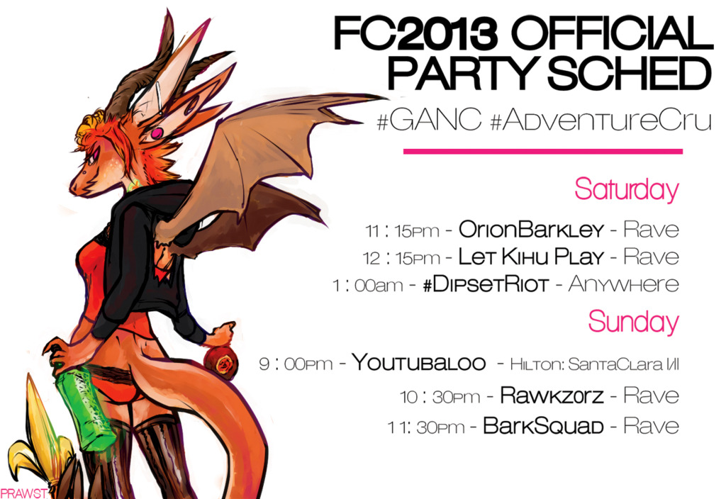 Most recent image: FC 2013 Official Party Sched #GANC #AdventureCru