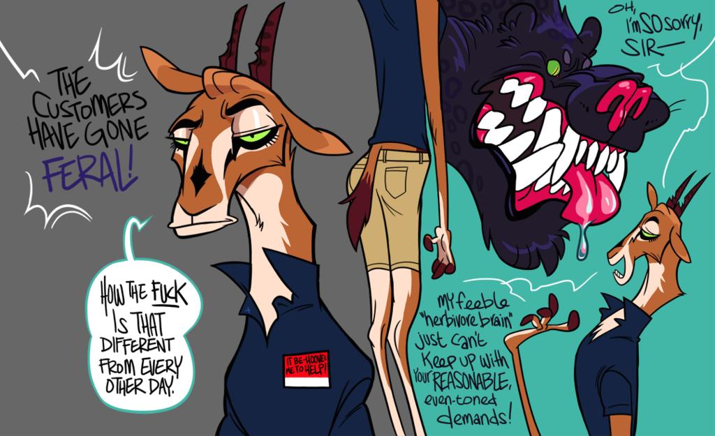 Zig-zag evasions of the wild store clerk