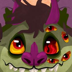 Face Icon: Bat Monster