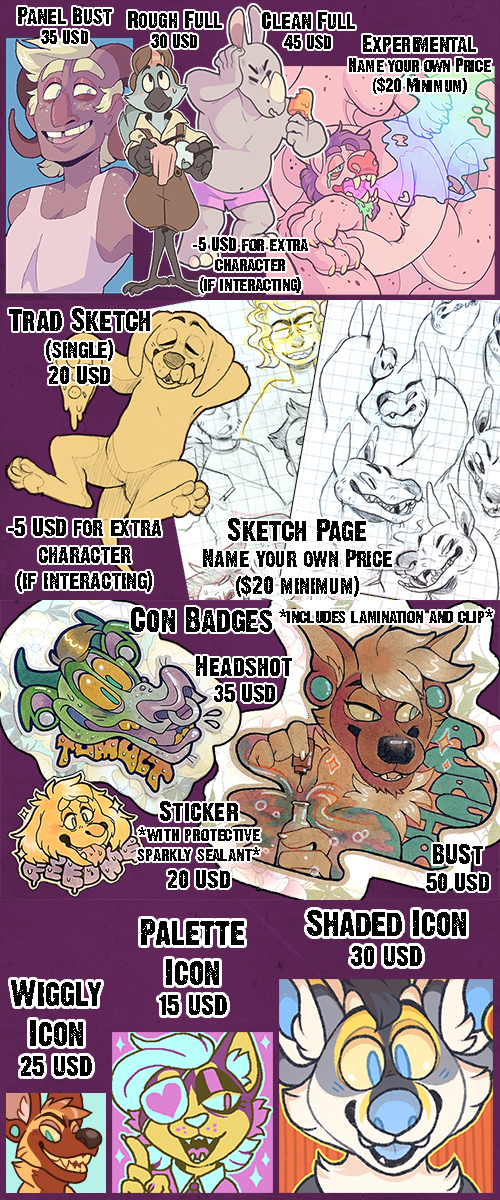 Most recent image: Commission Price Sheet -- UPDATED!