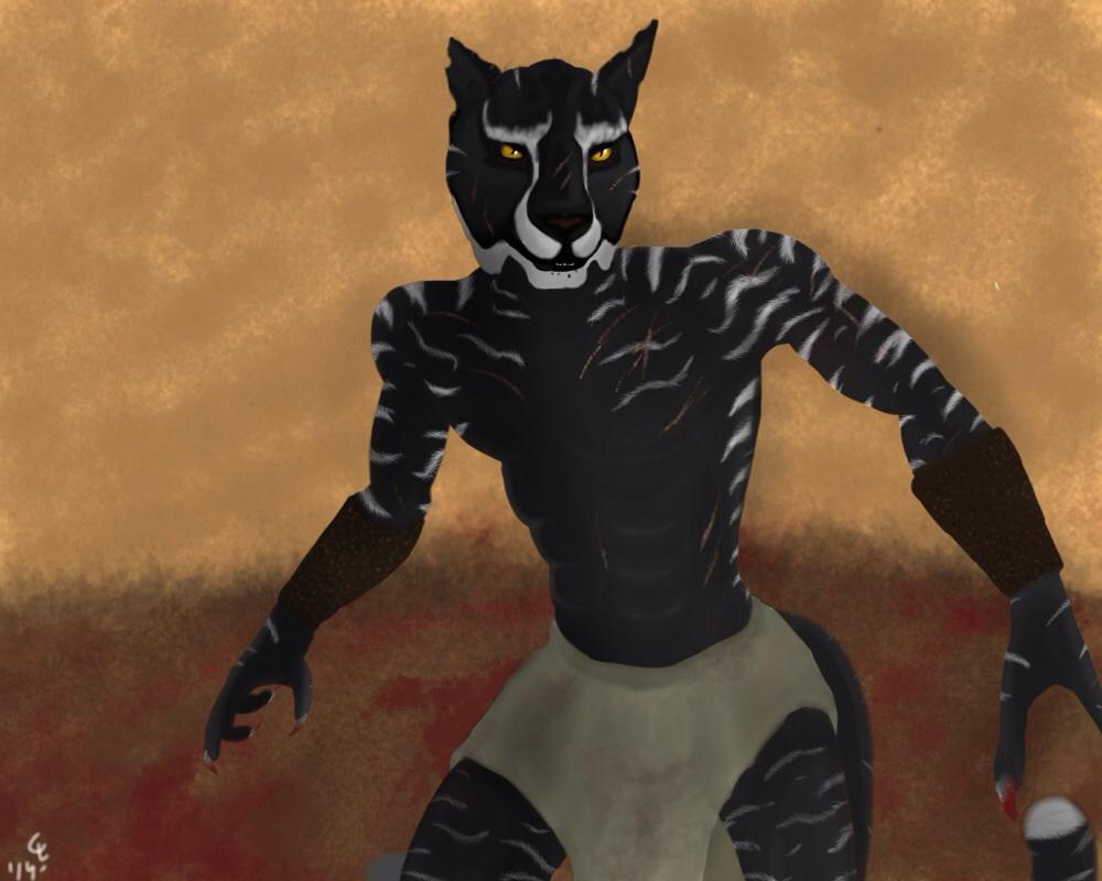 Catfolk gladiator