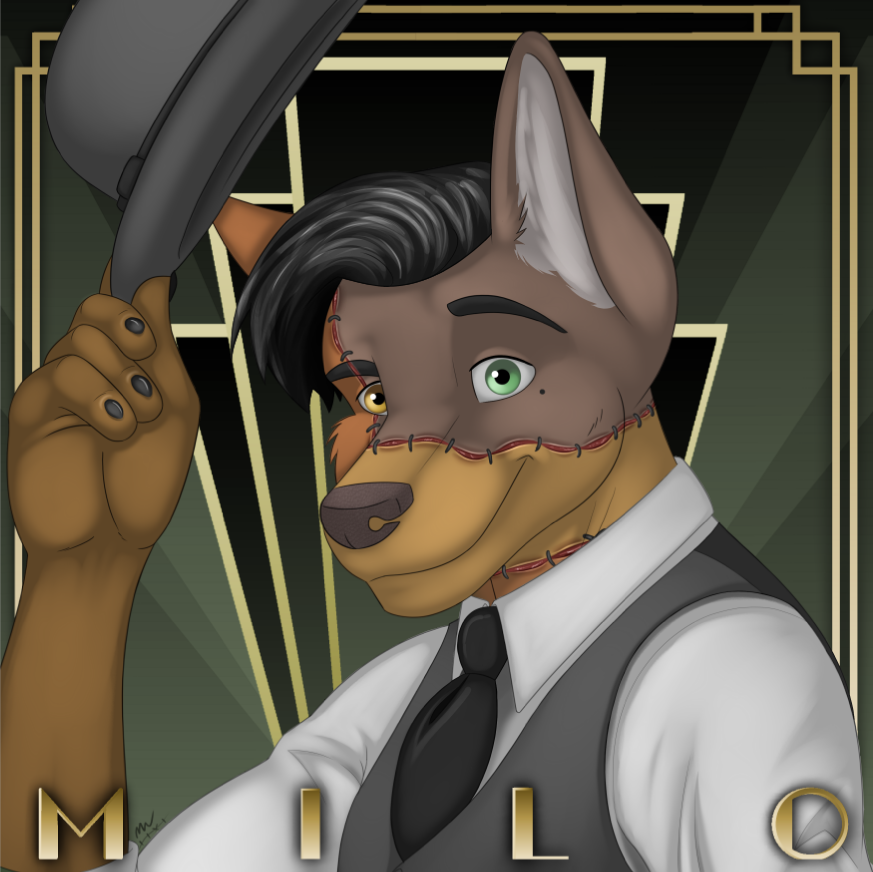 Most recent image: Anthrocon Badge (clothed)