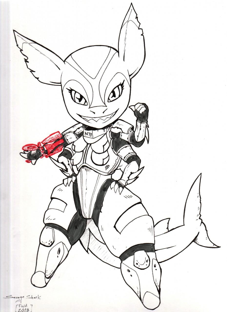 INK :: FWA Shogunfox Shark of MassEffect